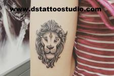 aslan dövme-lion tattoo
